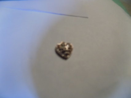 rhinestone covered heart charm