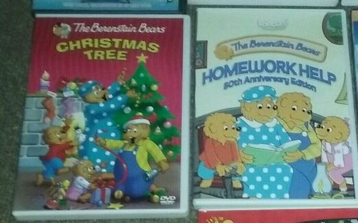 Berenstain Bears dvds in EXCELLENT CONDITION. NO SCRATCHES. LIKE NEW