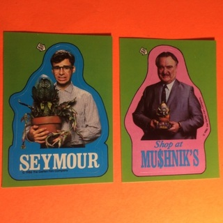 2 Little Shop of Horrors 1986 Sticker Cards!