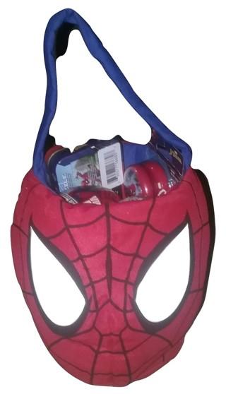"Marvel Spider-Man Plush Basket 12"" with Surprise Gift toys"