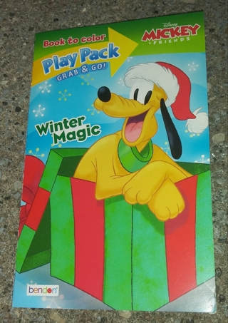 SMALL COLORING BOOK WITH STICKERS DISNEY MICKEY AND FRIENDS WINTER MAGIC USE YOUR OWN CRAYONS