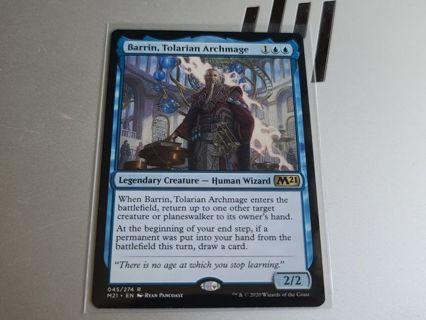 Magic the gathering mtg Barrin Tolarian Archmage rare card M21 core set