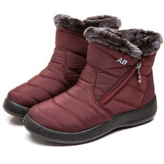 Women's Snow Ankle Boots Winter Fur Lined Warm Waterproof Outdoor