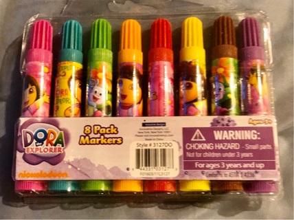 "BNIP ""Nickelodeon: Dora The Explorer"" Set of Eight Various Markers!!"