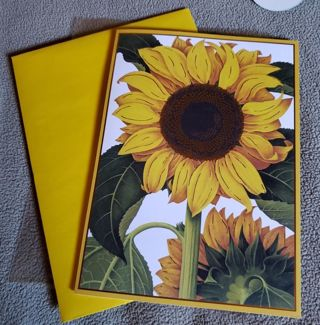 Sunflower Birthday Greeting Card