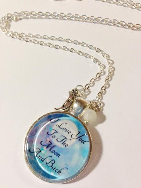 Free: I Love You To The Moon And Back Charm Necklace ...