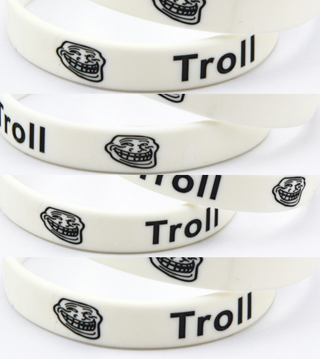 BRAND NEW BRACELET Internet Troll Wrist Band Bracelet Trolling Band HOT TOPIC Emo Metal pop punk 1 2