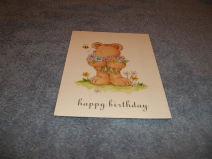 Birthday Card/Light Green Envelope