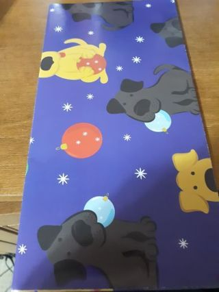 Doggie Christmas Wrapping Paper and Six Doggie Christmas Cards