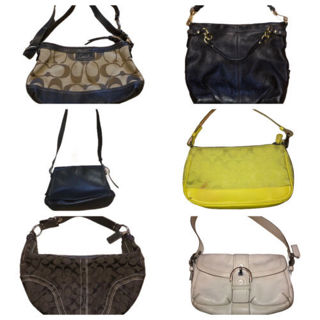 Authentic Coach Purse Lot 6 Bags As Is