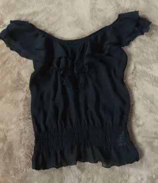 Miley Cyrus cute Black Sheer top