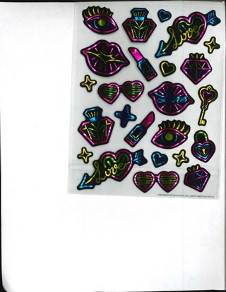 Shiney Makeup Love Stickers