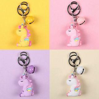 Lovely Gel Unicorn Doll With Bell Keychain Car Key Ring Bag Charm Pendant Hot