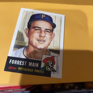 1953 topps archives Forrest main baseball card