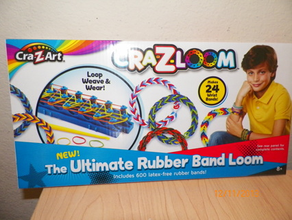 Free Cra Z Loom Ultimate Rubber Band Loom Blue Rainbow