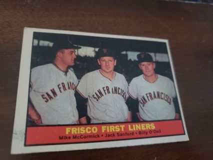 1961 Frisco First Liners San Francisco giants vintage baseball card