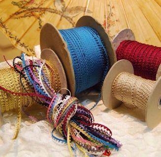 Vintage 5mm Picot loop braid edge lace trim Ginny Dolls - various colors