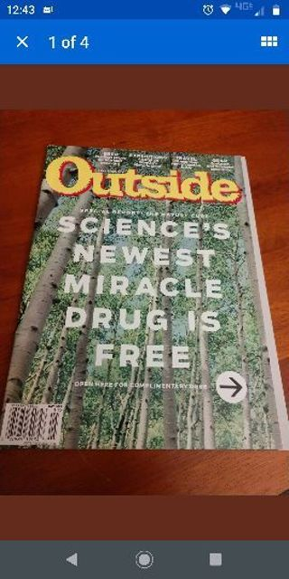 Outside Magazine May 2019 Special Report Nature Cure