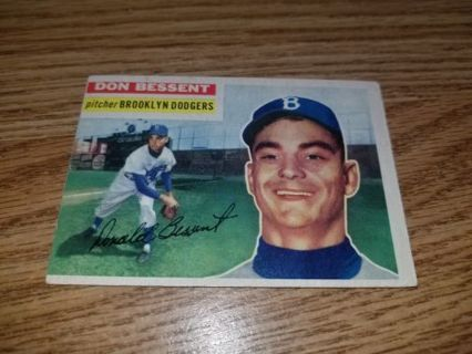 1956 Topps Baseball Don Bessent #184 Brooklyn Dodgers,VG condition,Free Shipping!