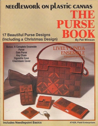 "Needlework on plastic canvas ""the purse book""17 beautiful purse designs"