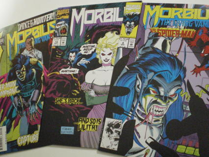 Set of 3 Morbius The Living Vampire #4, 13, 23 (1992) VF Marvel Comic