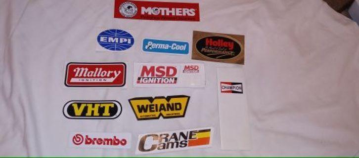 Vehicle type stickers