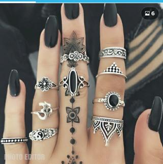 10 Sterling Rings