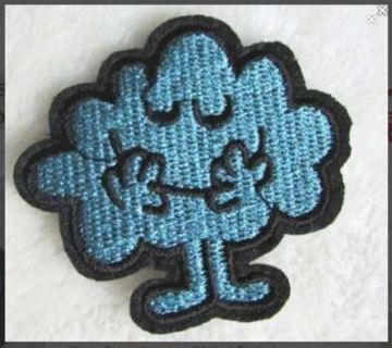 1 NEW Mr. Men Series Mr. Daydream IRON ON PATCH Adhesive Embroidered Back Badge Applique