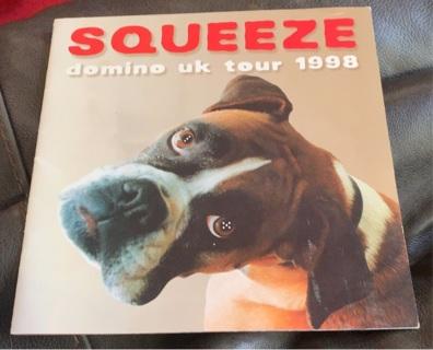 Squeeze Domino UK Tour 1998 Program