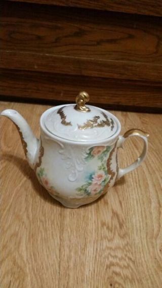Floral decorated Teapot