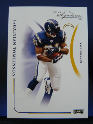 2004 Playoff Prime Signatures LaDainian Tomlinson (Chargers) S/N #935/999