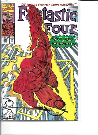 Fantastic Four #353 Marvel Comic NM Signed by Walter Simonson