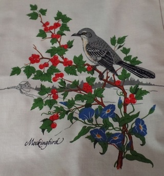 Mockingbird Fabric Block to Quilt and/or Frame, 100% Cotton, 10-1/2 x 12 - APA-112
