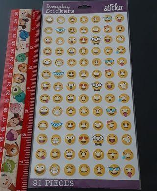 Classic Emojis Sticko Sticker sheet NEW