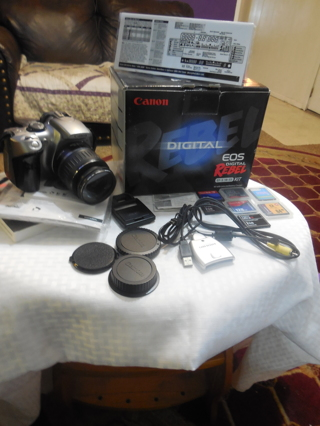 Canon Digital EOS Rebel EF-S-18-55 Kit and Camera with lots of memory