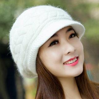 New Women Lady Fashion Knitting Beanie Hat Visor Winter Warm Baggy Outdoor Cap