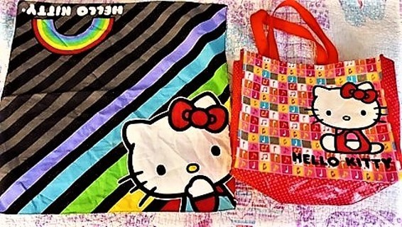 Hello Kitty Rainbow Bandanna Mask & Grocery Tote
