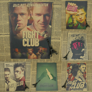 Fight Club Movie Poster Kraft Paper