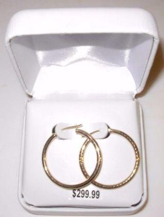 10kt Gold Hoop Earrings Brand New in Box