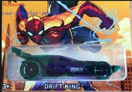 Wheels Spiderman Drift King Prowler Diecast Car Toys Kids Green/Purple Race