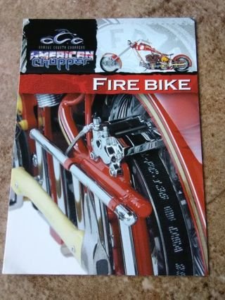 "2004 American Chopper ""Fire Bike"" Collection Card #26"