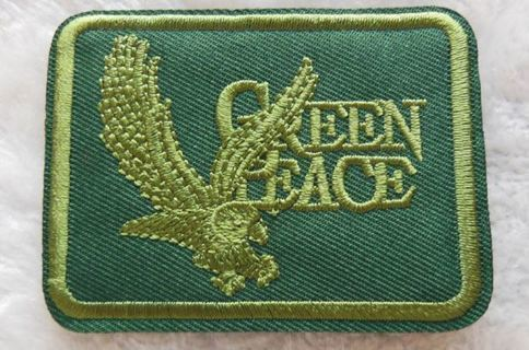 1 NEW Green Peace IRON ON PATCH International Environmental Organization Applique FREE SHIPPING