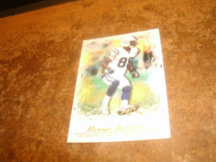 2001 pacific impressions#54-canvas-marvin harrison-colts-hof-mt