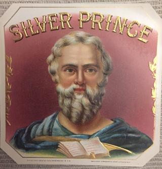 SILVER PRINCE VINTAGE EPHEMERA NEW OLD STOCK LABEL