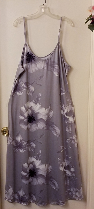Maxi Dress, Gray, EUC