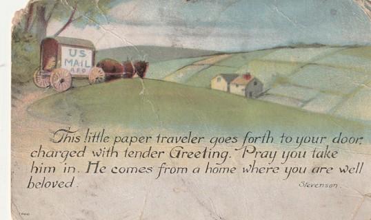 Vintage Used Postcard: 1916 Greeting
