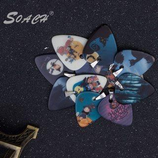 SOACH In 2016 the new guitar pick pendant necklace Halloween design necklace pendant, luminous 1 mm
