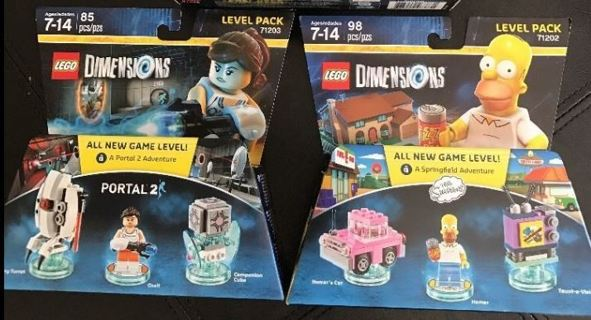 1 SALE! LOT BRAND NEW Lego Lot The Simpsons & Portal 2 Video Game Lego Pack - Free Shipping