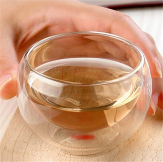 new Durable 50Ml, Heat Resistant /Double Wall Layer Tea Cup Healthy Elegant