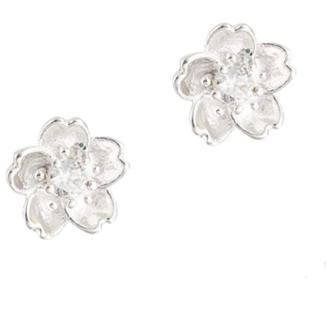 925 Sterling Silver Plated Color Flower Stud Earrings for Women Teen Girls